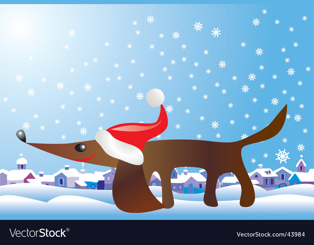 Christmas hound vector | Price: 1 Credit (USD $1)