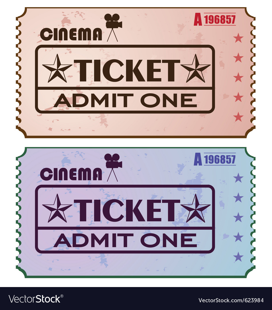 Cinema tickets vector | Price: 1 Credit (USD $1)