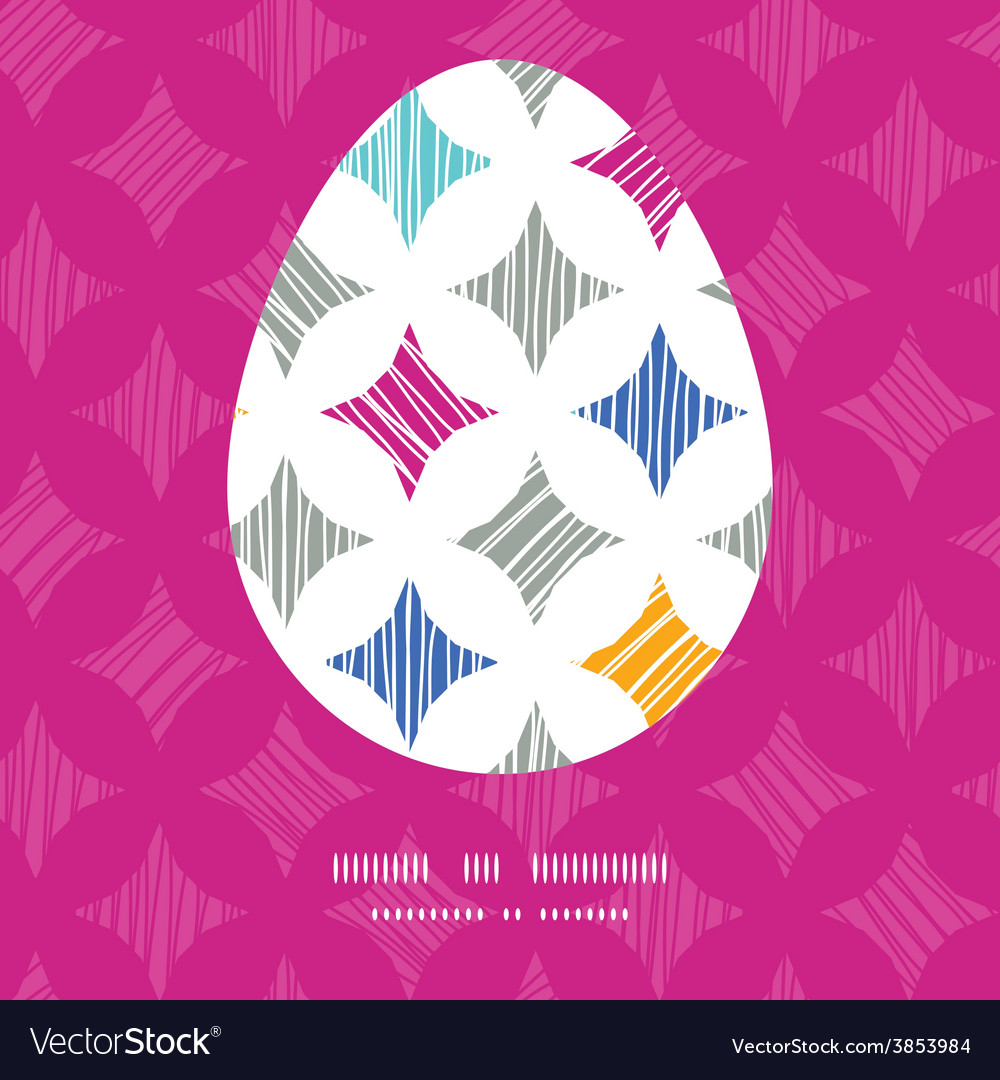 Colorful marble textured tiles easter egg vector | Price: 1 Credit (USD $1)