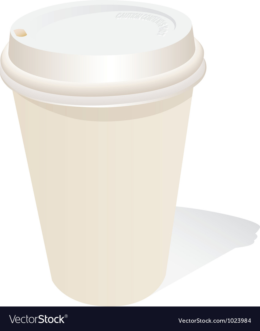 Generic coffee cup vector | Price: 1 Credit (USD $1)