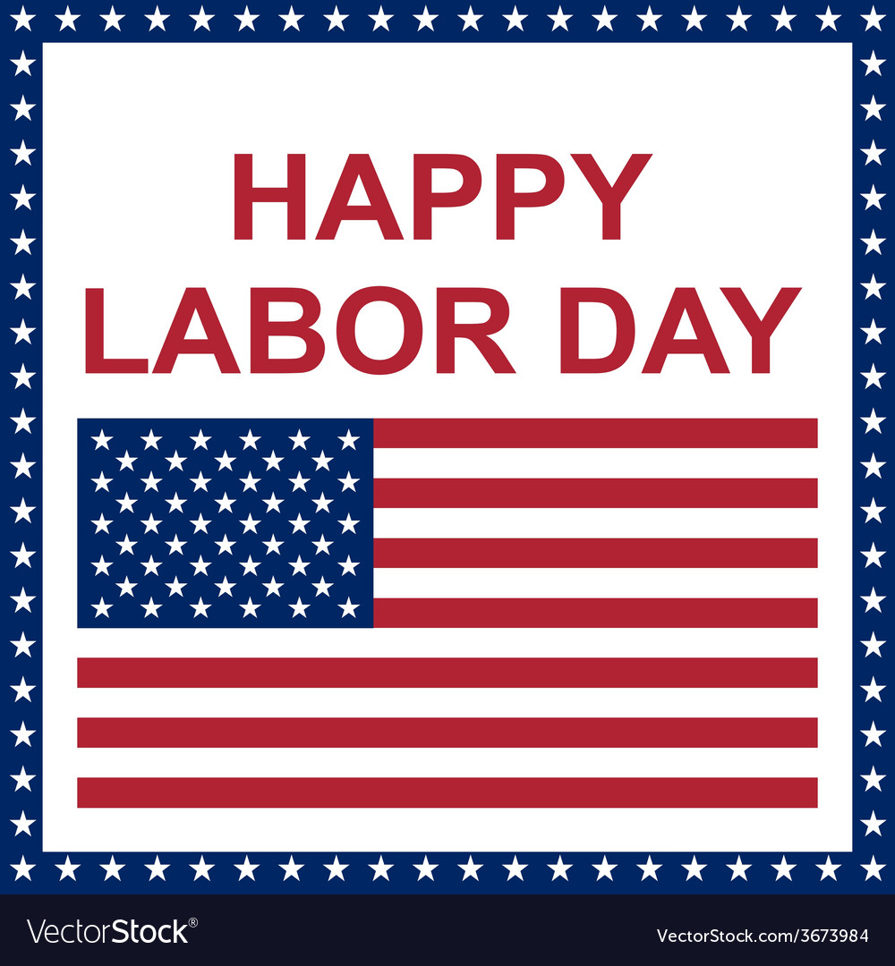 Happy labor day card vector | Price: 1 Credit (USD $1)