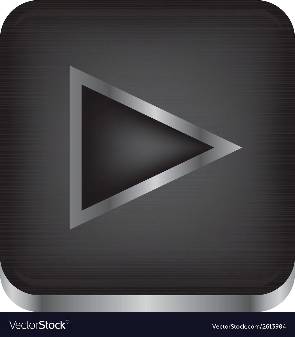 Media playback icon vector | Price: 1 Credit (USD $1)