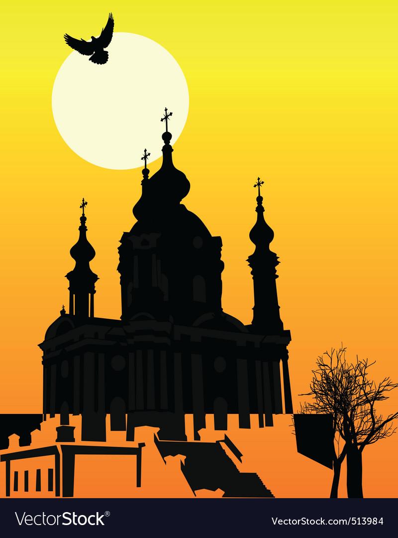 St andrews church in kiev vector | Price: 1 Credit (USD $1)