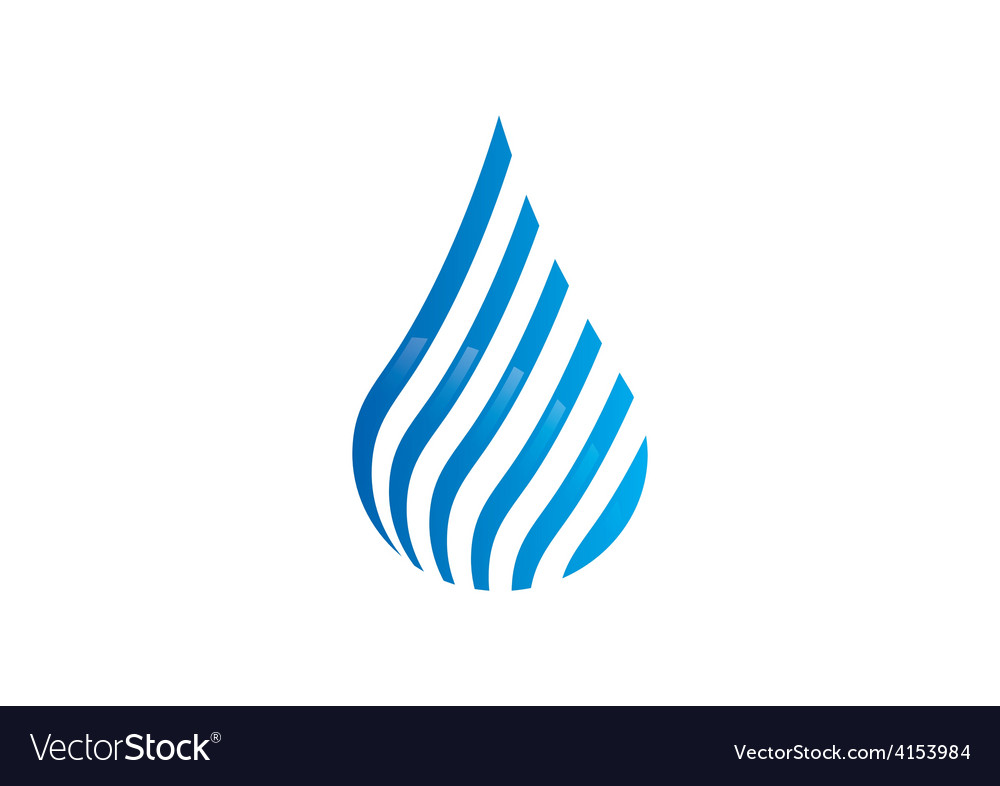 Water drop stripe line abstract logo vector | Price: 1 Credit (USD $1)