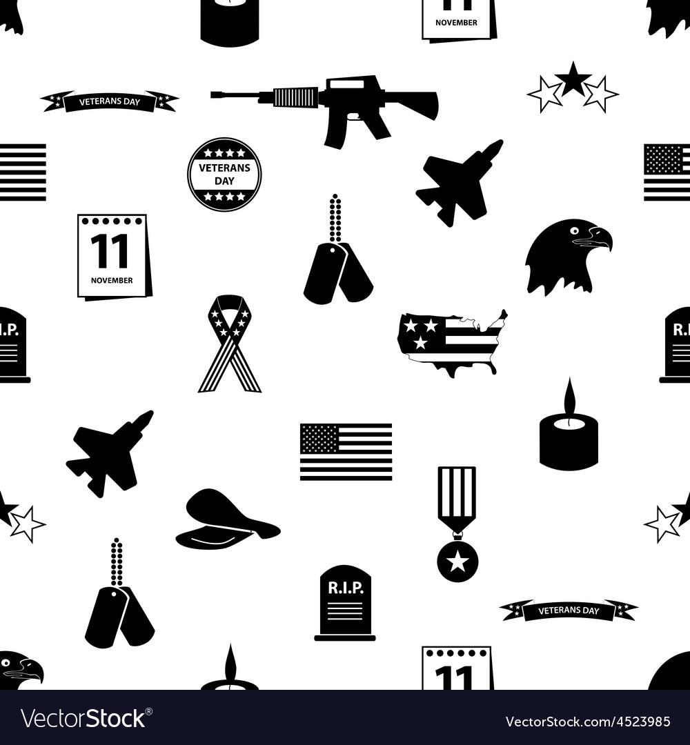 American veterans day celebration seamless pattern vector | Price: 1 Credit (USD $1)