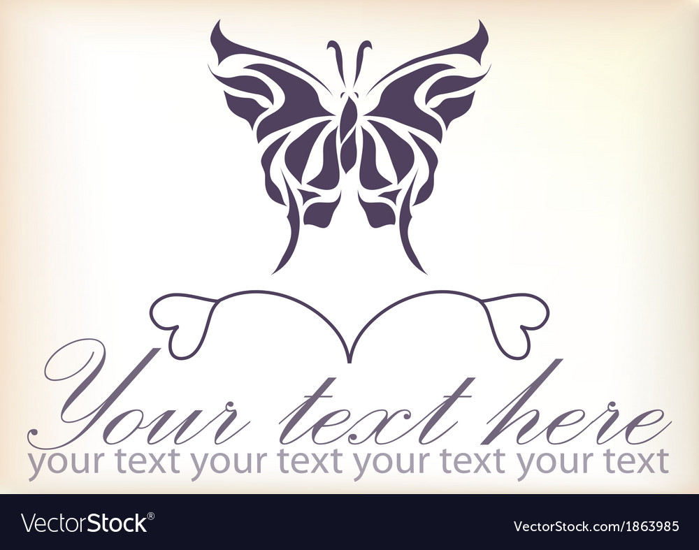 Beautiful vintage retro butterfly vector | Price: 1 Credit (USD $1)