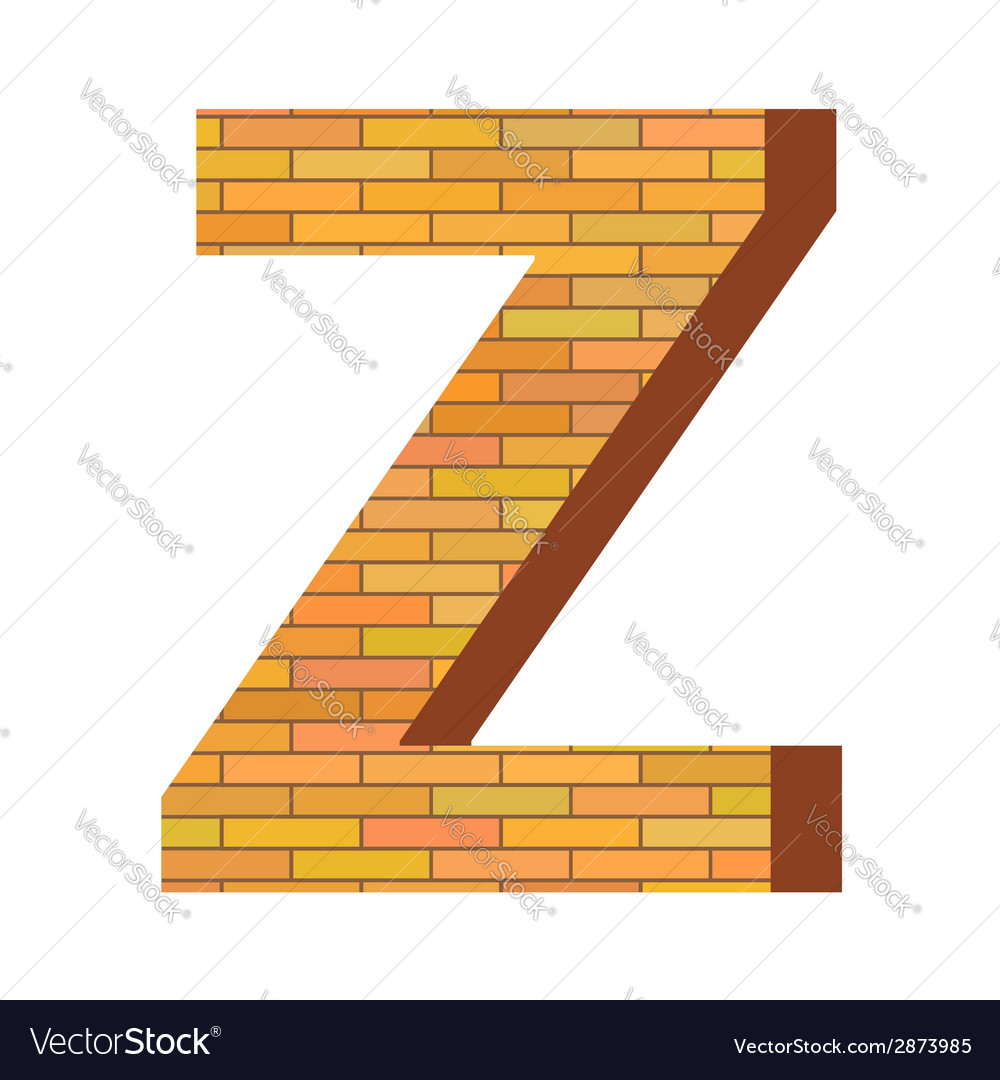Brick letter z vector | Price: 1 Credit (USD $1)
