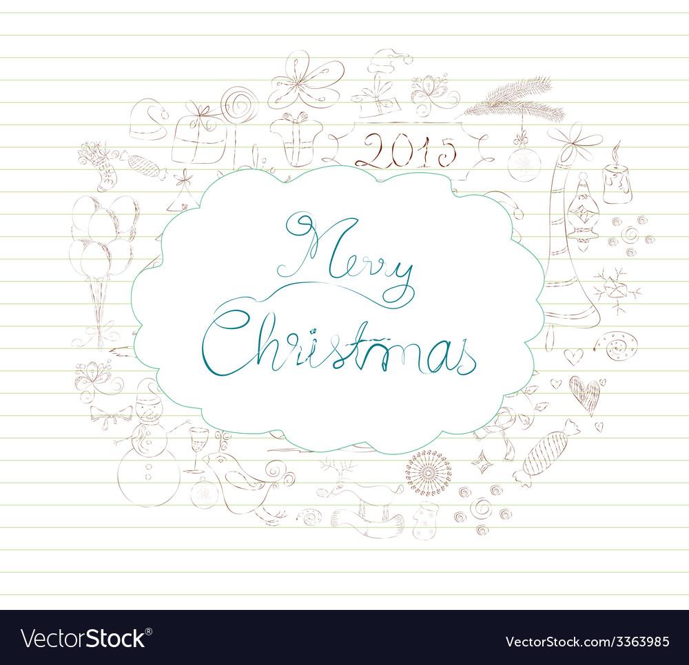 Christmas scrapbook element vector | Price: 1 Credit (USD $1)