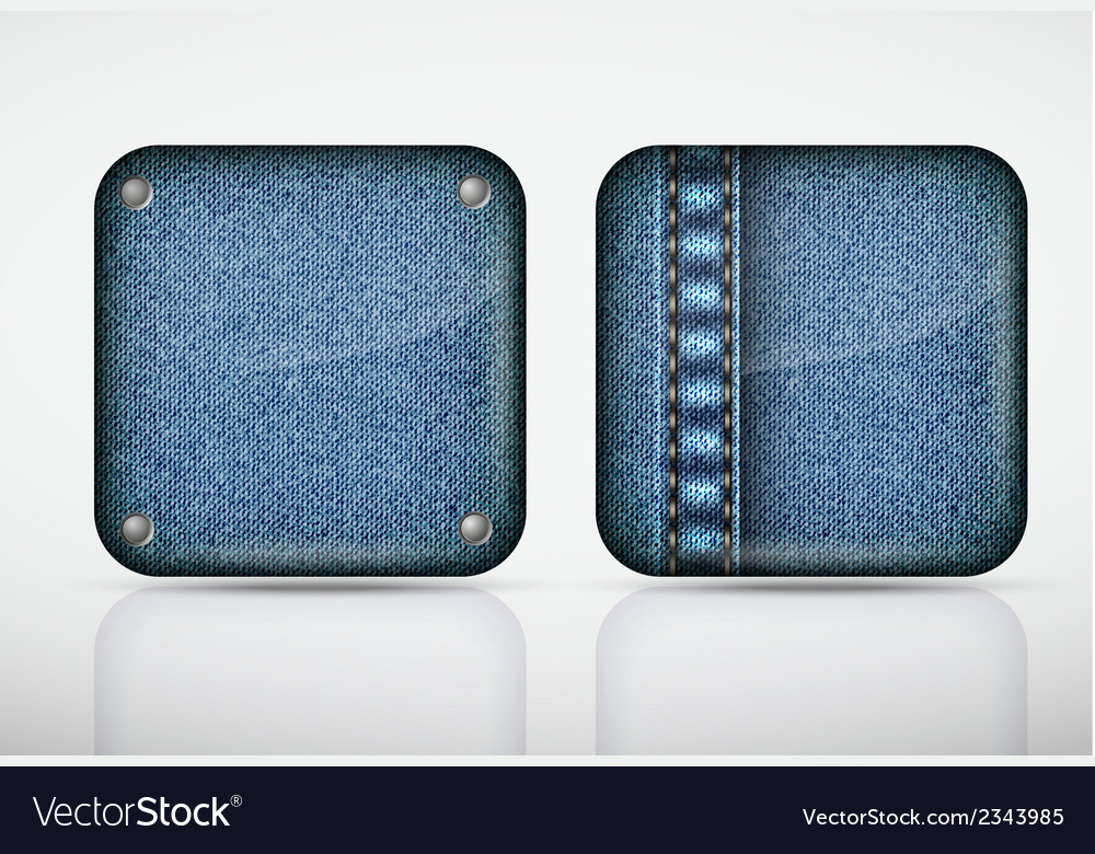 Denim application icons texture jeans vector | Price: 1 Credit (USD $1)
