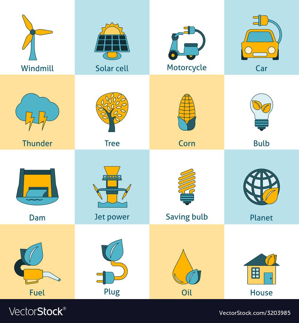 Eco energy icons set vector   Price: 1 Credit (USD $1)