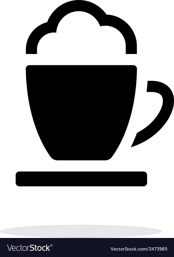 Espresso cup simple icon on white background vector | Price: 1 Credit (USD $1)