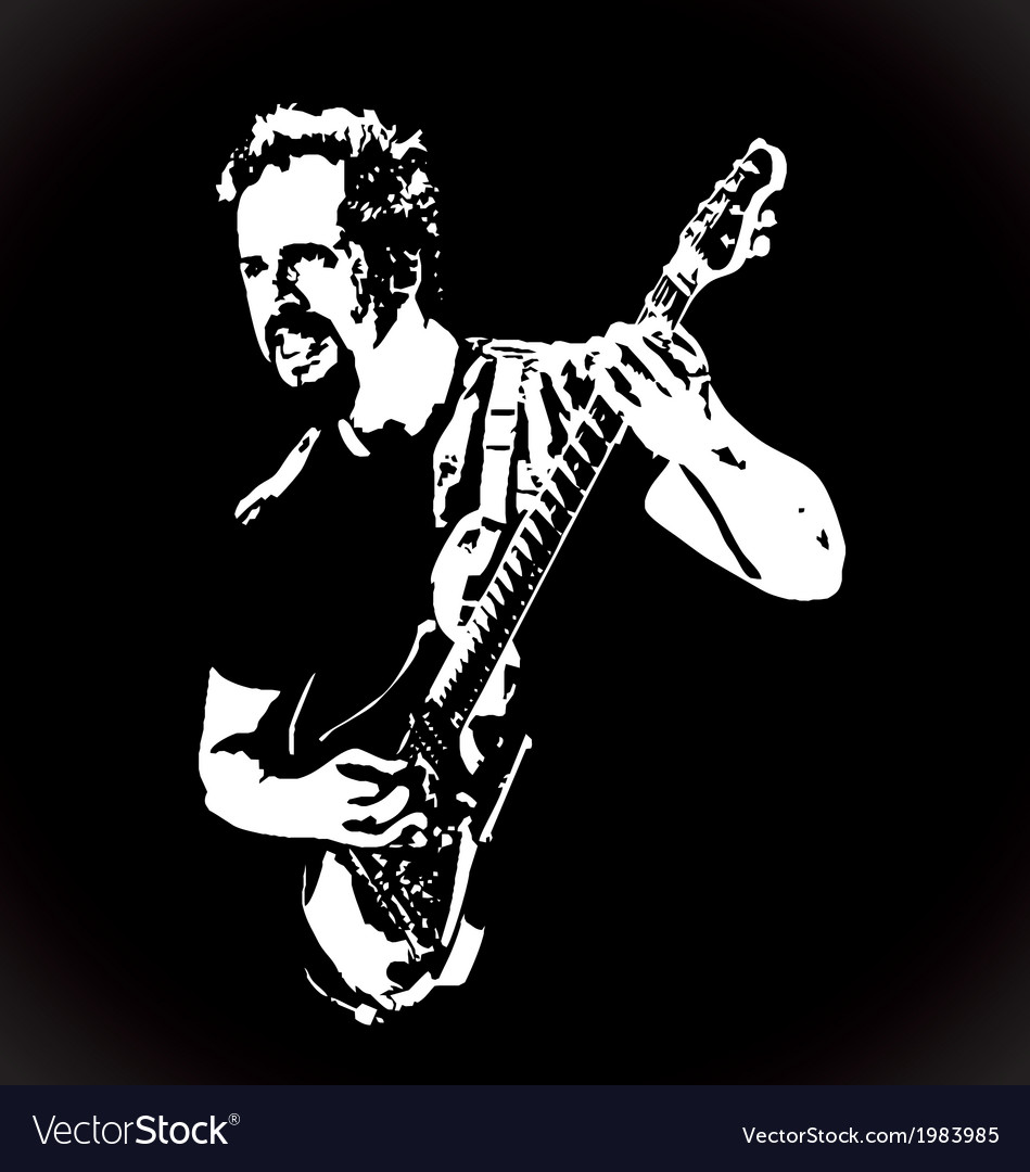 Guitarist stencil art vector | Price: 1 Credit (USD $1)