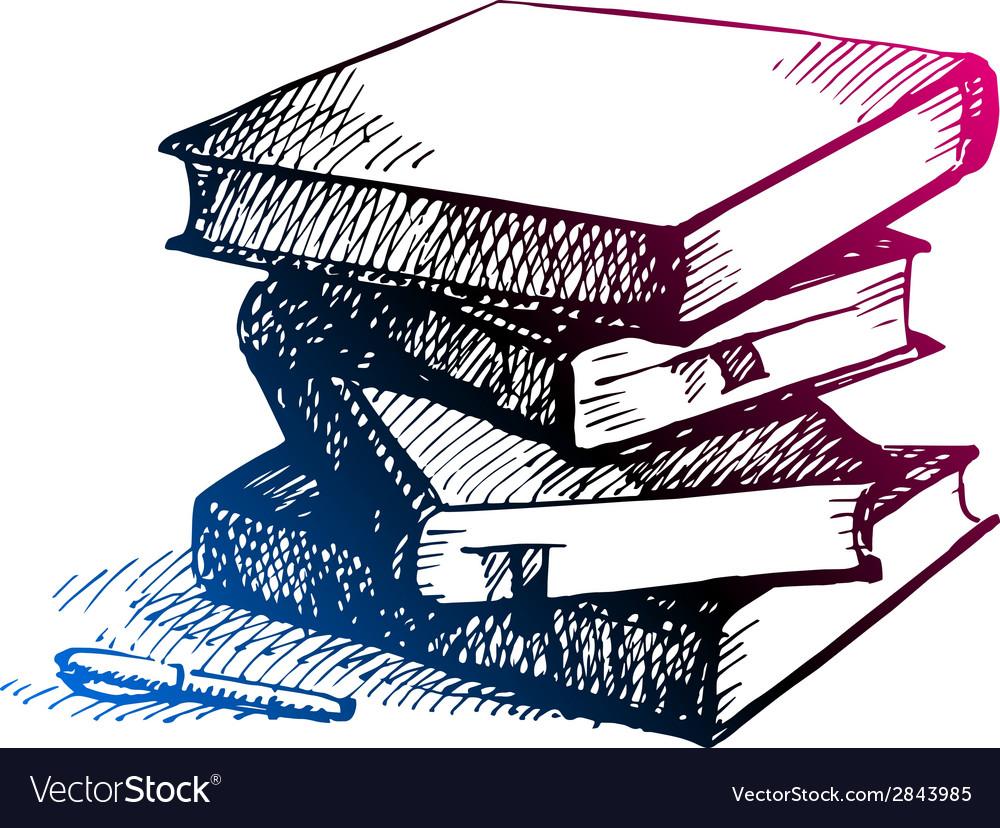 Hand drawn back to school sketch vector | Price: 1 Credit (USD $1)