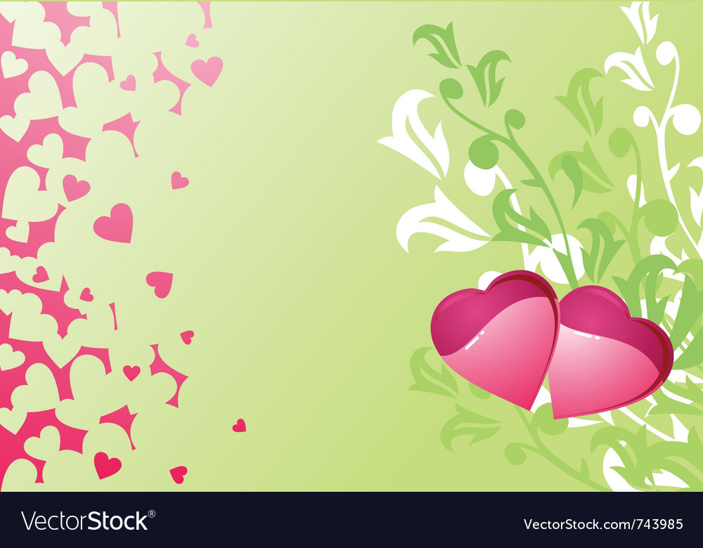 Love hearts and background valentines or wedding vector | Price: 1 Credit (USD $1)