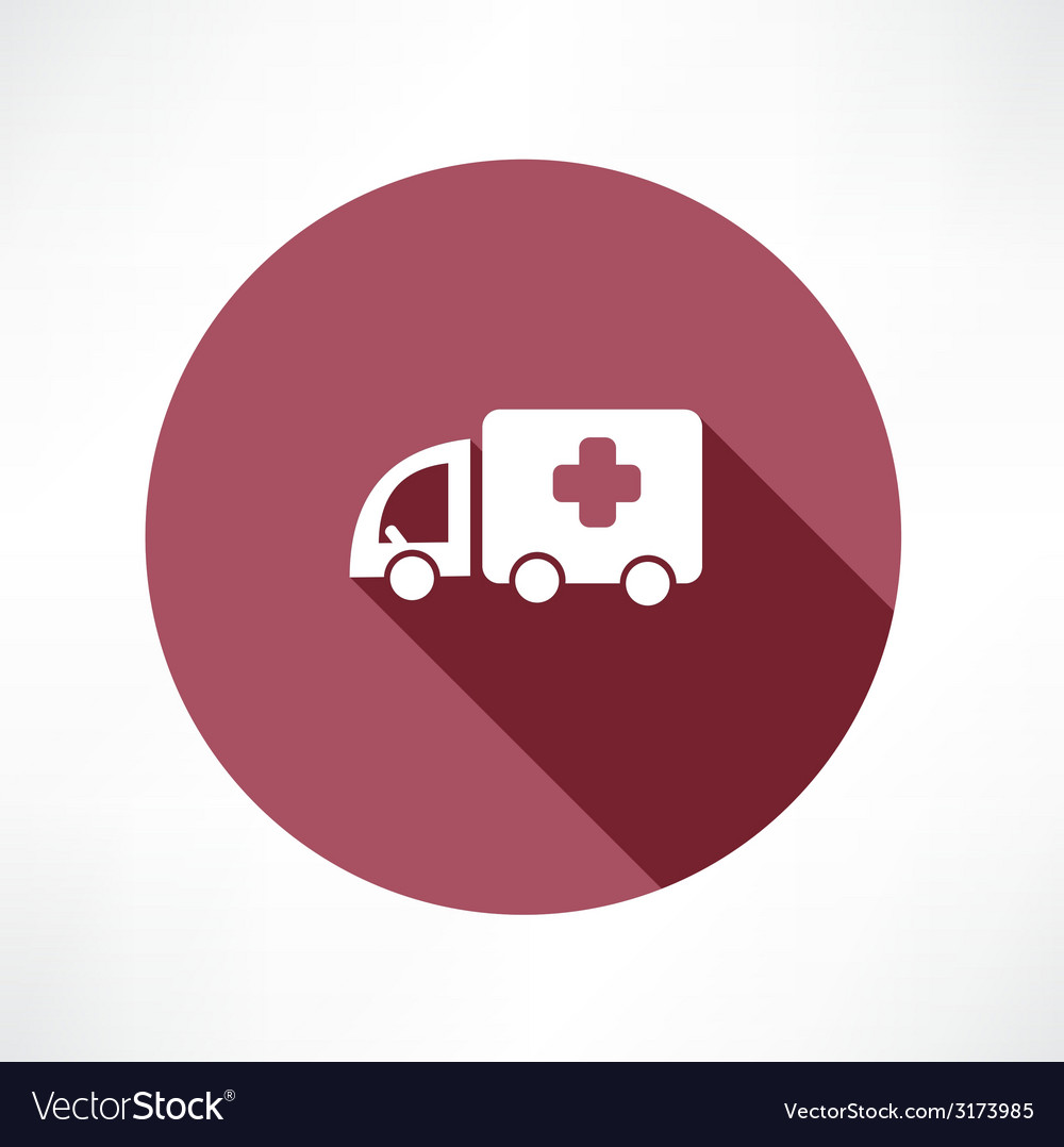 Medical car icon vector | Price: 1 Credit (USD $1)