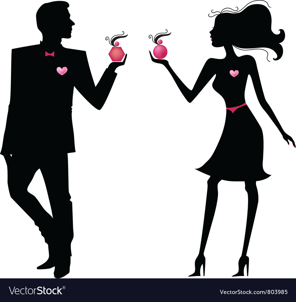 Silhouette of man and women vector | Price: 1 Credit (USD $1)