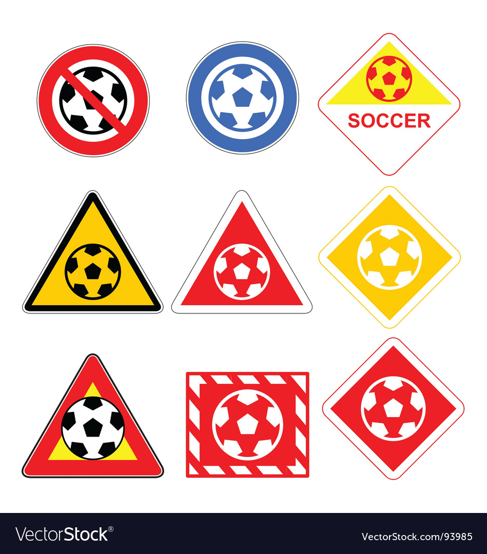 Soccer signs vector | Price: 1 Credit (USD $1)