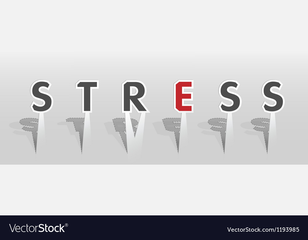 Stress word vector | Price: 1 Credit (USD $1)
