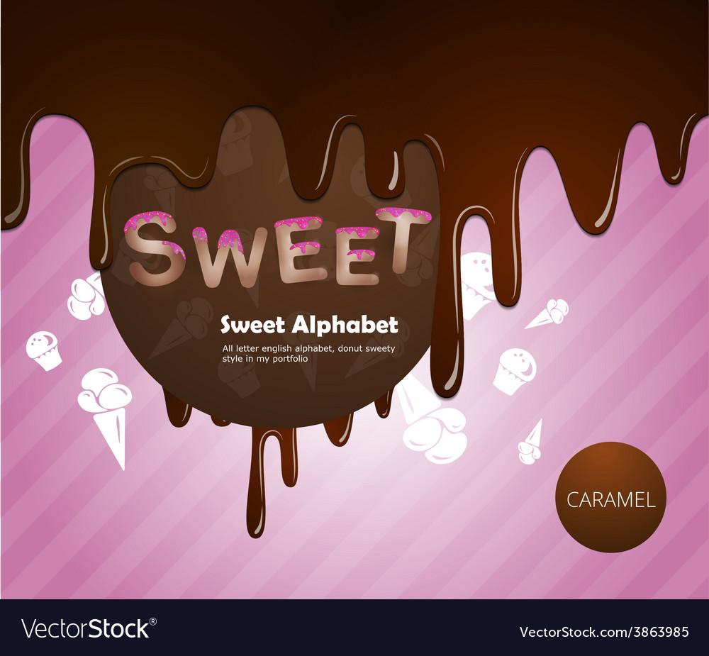 Sweet alphabet vector