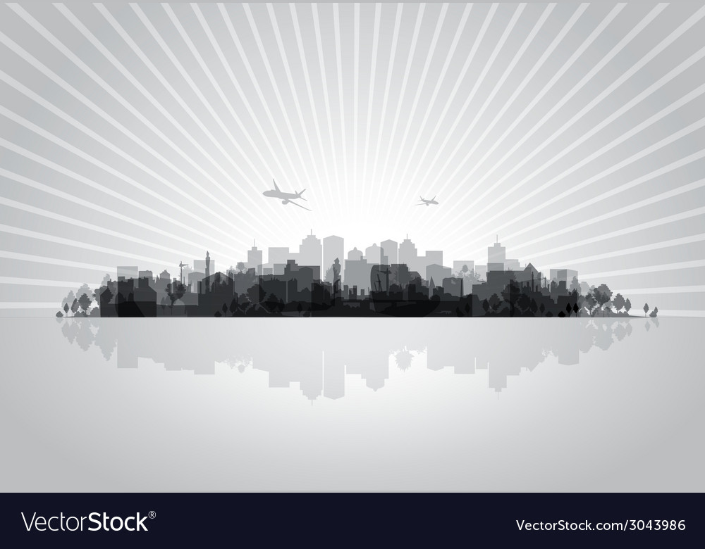 Black cityscape vector | Price: 1 Credit (USD $1)