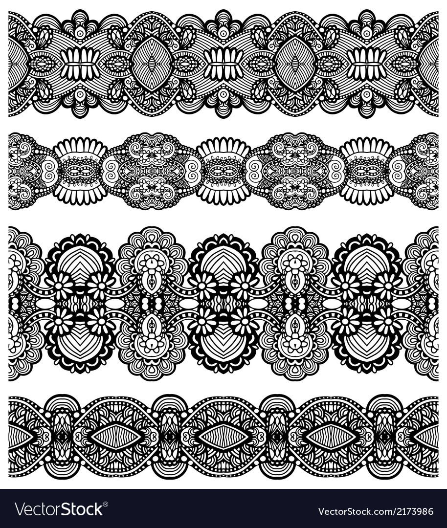 Seamless ornamental floral stripes vector | Price: 1 Credit (USD $1)