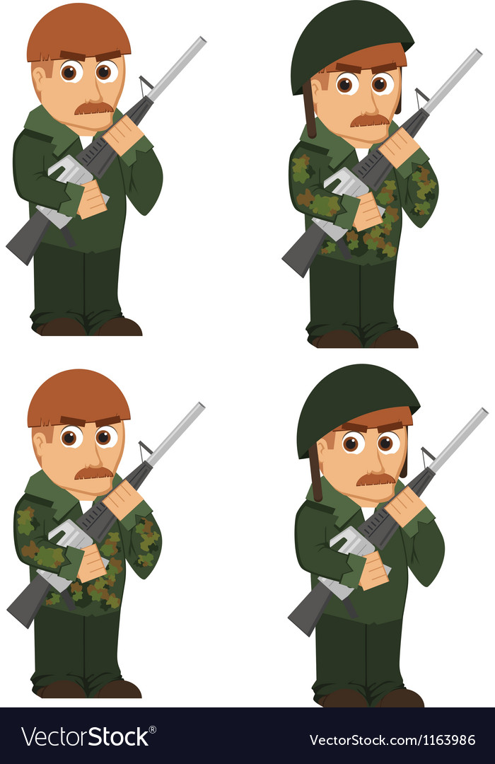 Set of soldiers vector | Price: 1 Credit (USD $1)