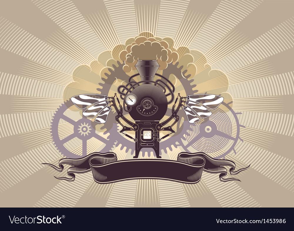Steampunk graphic design vector | Price: 1 Credit (USD $1)