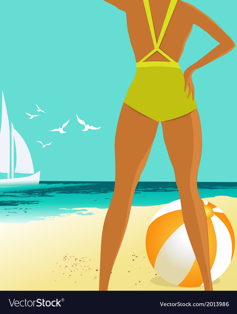 Summer background vector | Price: 1 Credit (USD $1)