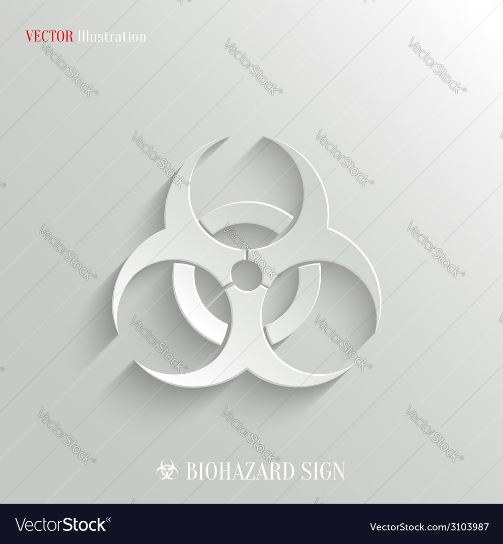 Biohazard icon - white app button vector | Price: 1 Credit (USD $1)