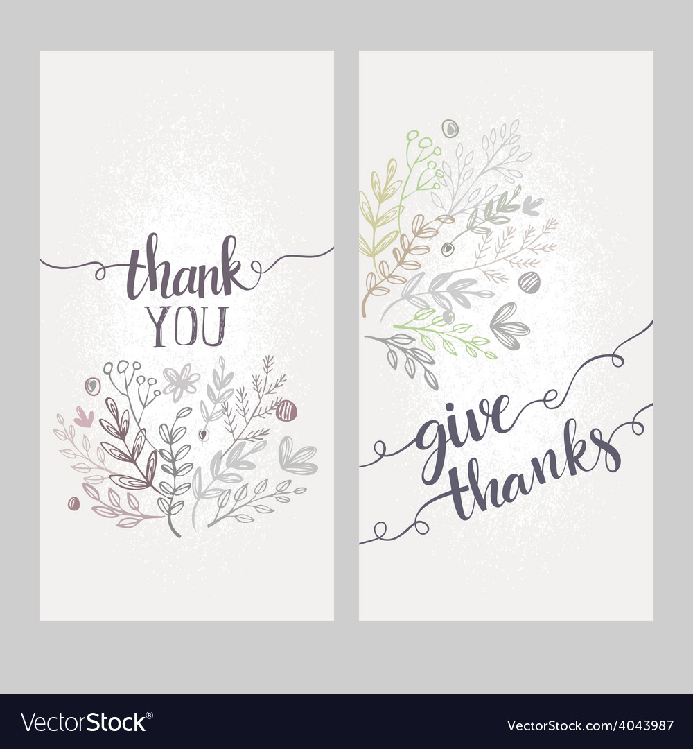 Card with the words thank you vector | Price: 1 Credit (USD $1)