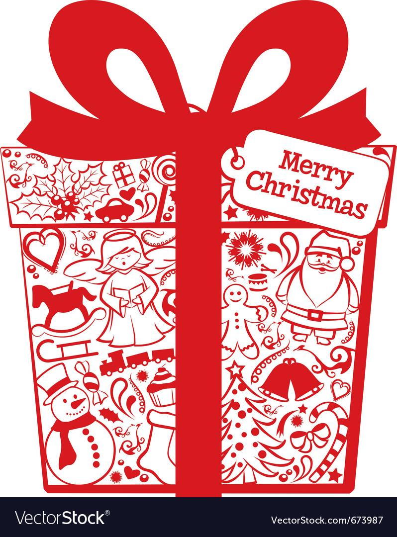 Christmas gift box vector | Price: 3 Credit (USD $3)