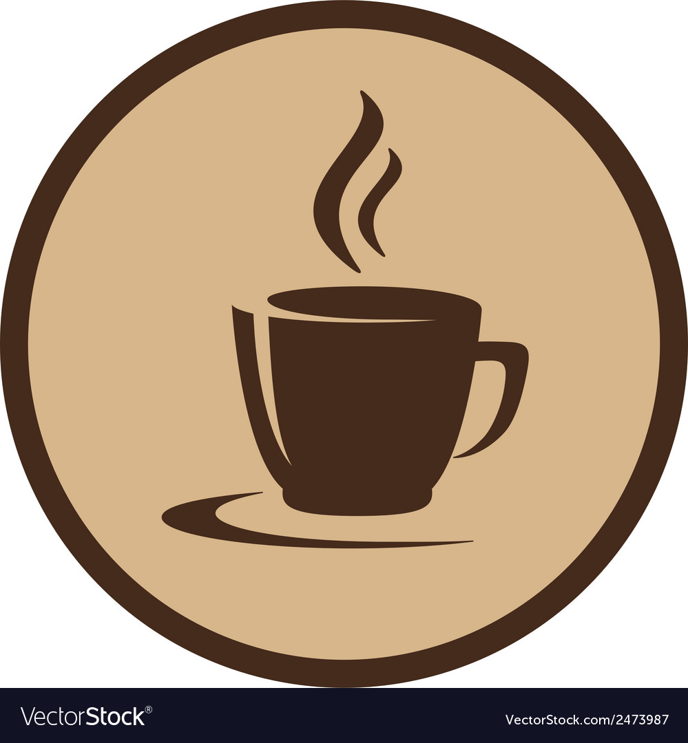 Coffee cup in frame vector | Price: 1 Credit (USD $1)
