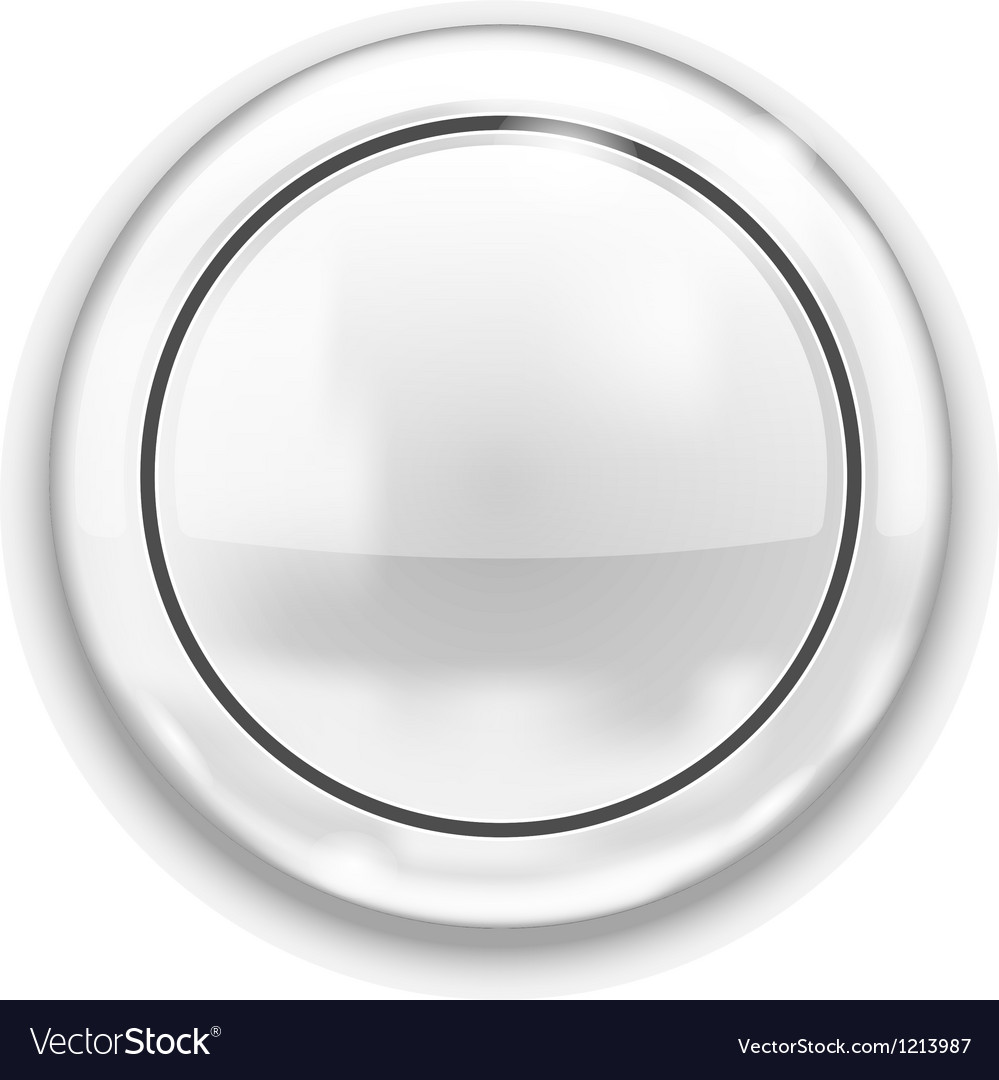 Empty white button vector | Price: 1 Credit (USD $1)