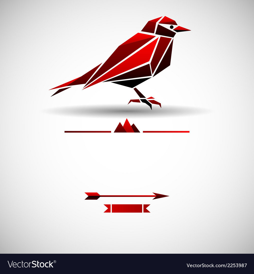 Modern background with triangle bird vector | Price: 1 Credit (USD $1)