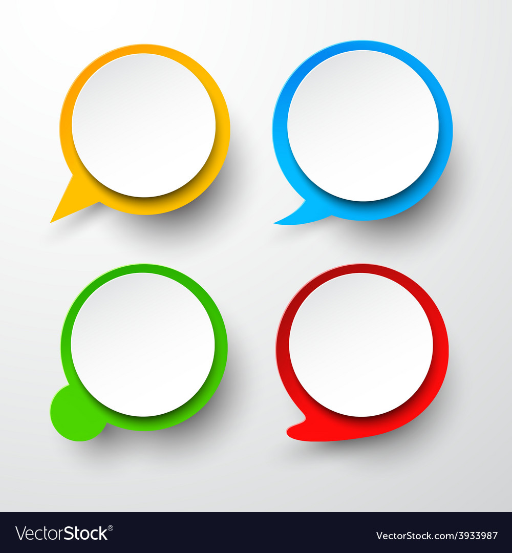 Paper set of round speech bubble vector | Price: 1 Credit (USD $1)