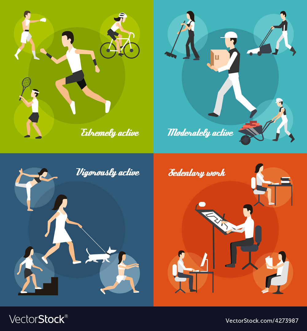 Physical activity set vector | Price: 1 Credit (USD $1)