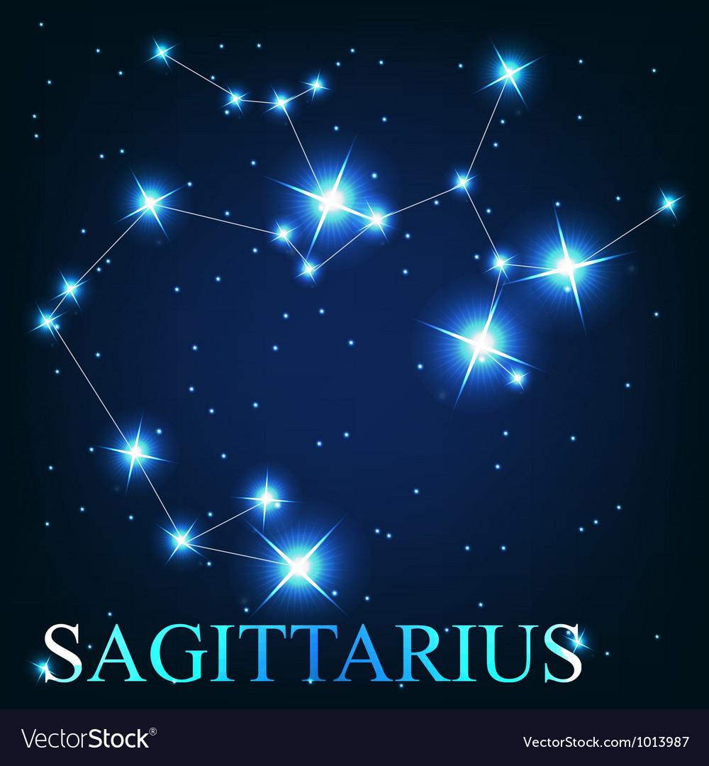 The sagittarius zodiac sign of the beautiful vector | Price: 1 Credit (USD $1)