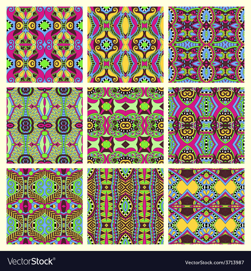 Seamless colored vintage geometric pattern vector | Price: 1 Credit (USD $1)