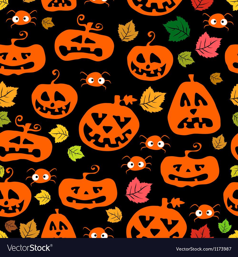 Seamless pumpkin background vector   Price: 1 Credit (USD $1)