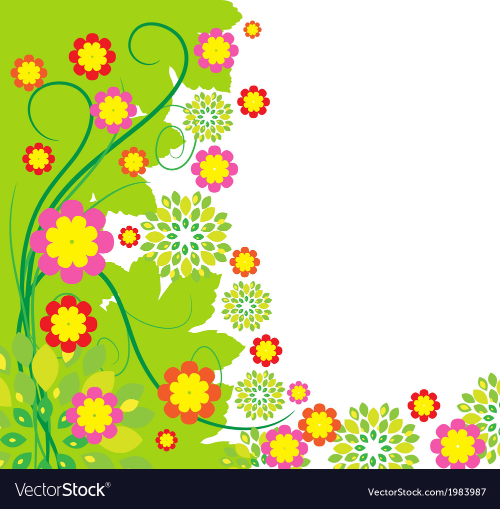 Springtime greeting card flower background vector | Price: 1 Credit (USD $1)