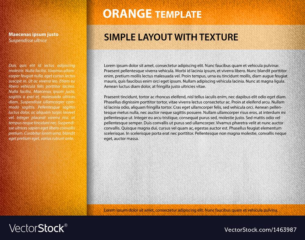 Template orange vector | Price: 1 Credit (USD $1)