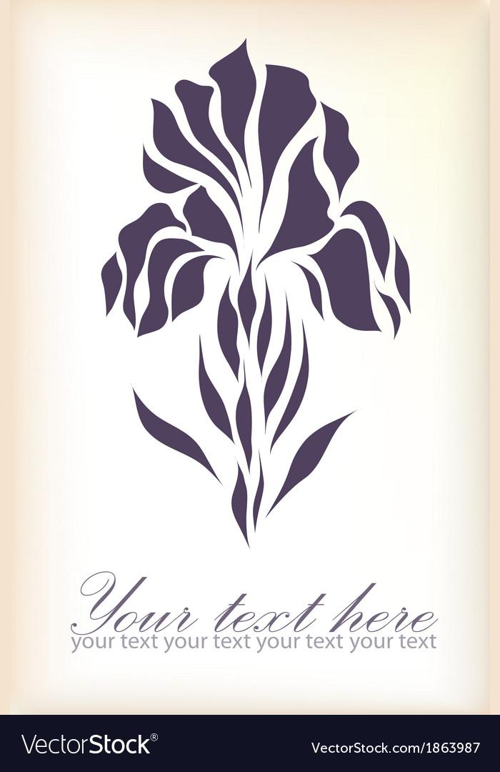 Vintage hand drawing iris vector | Price: 1 Credit (USD $1)