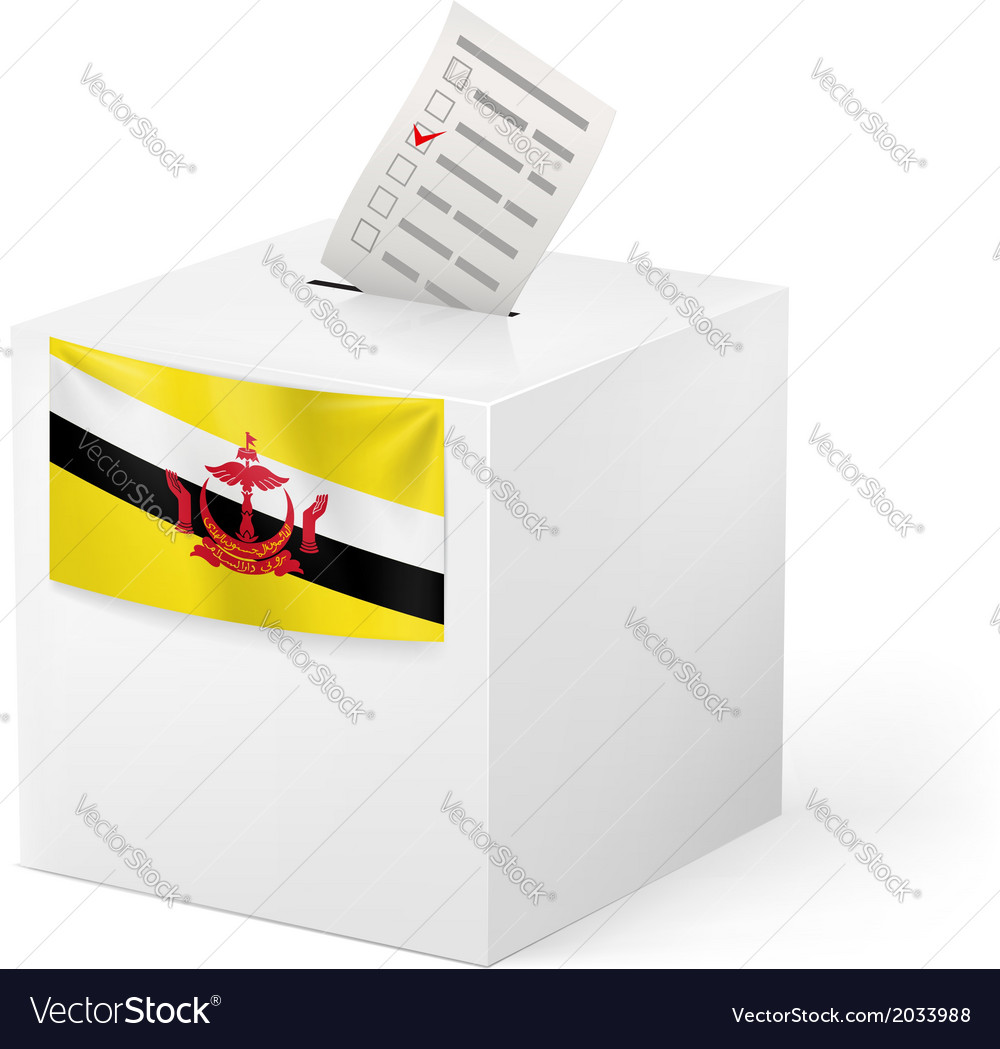 Ballot box with voting paper brunei vector | Price: 1 Credit (USD $1)