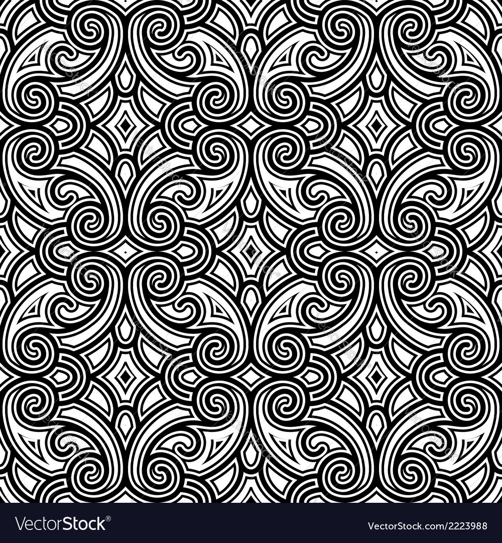 Black and white swirly pattern vector | Price: 1 Credit (USD $1)