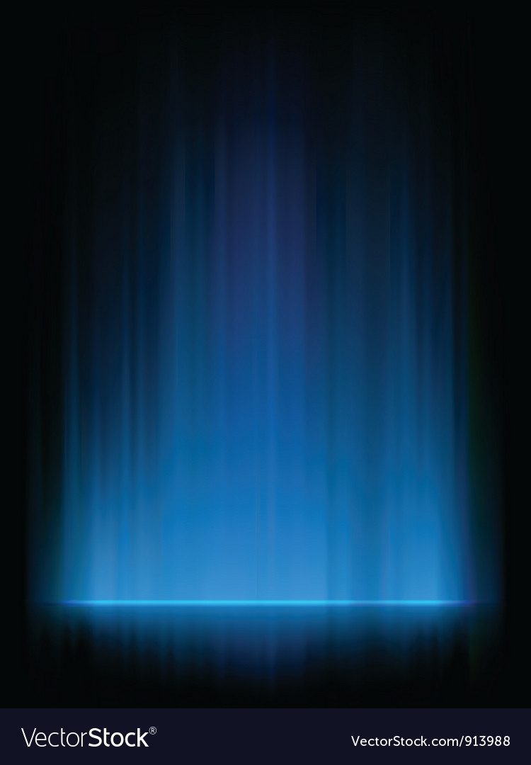 Blue aurora background vector | Price: 1 Credit (USD $1)