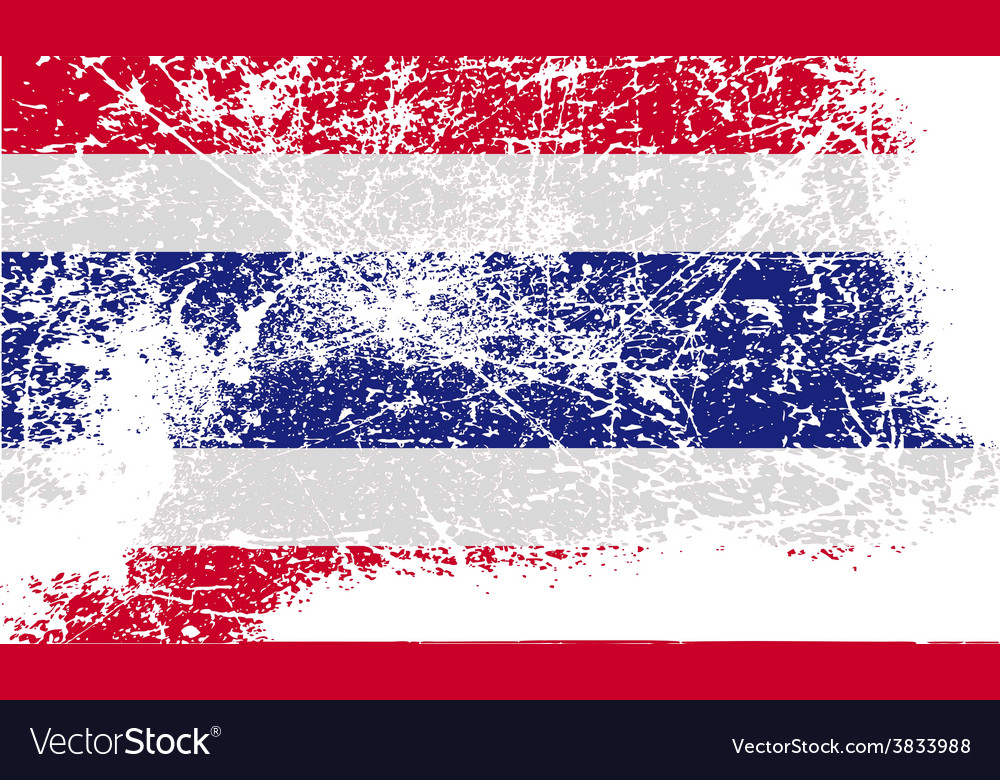 Flag of thailand with old texture vector | Price: 1 Credit (USD $1)