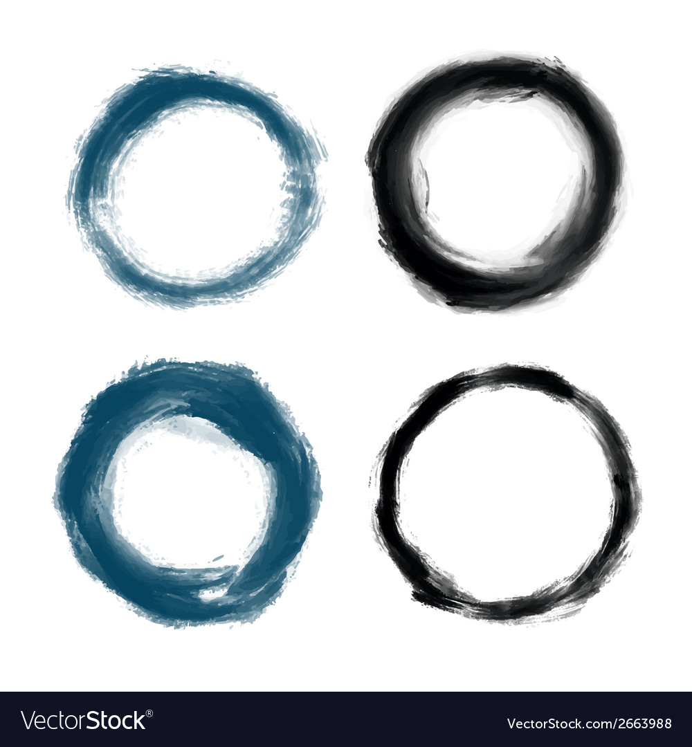 Hand drawn painted grunge circles vector | Price: 1 Credit (USD $1)