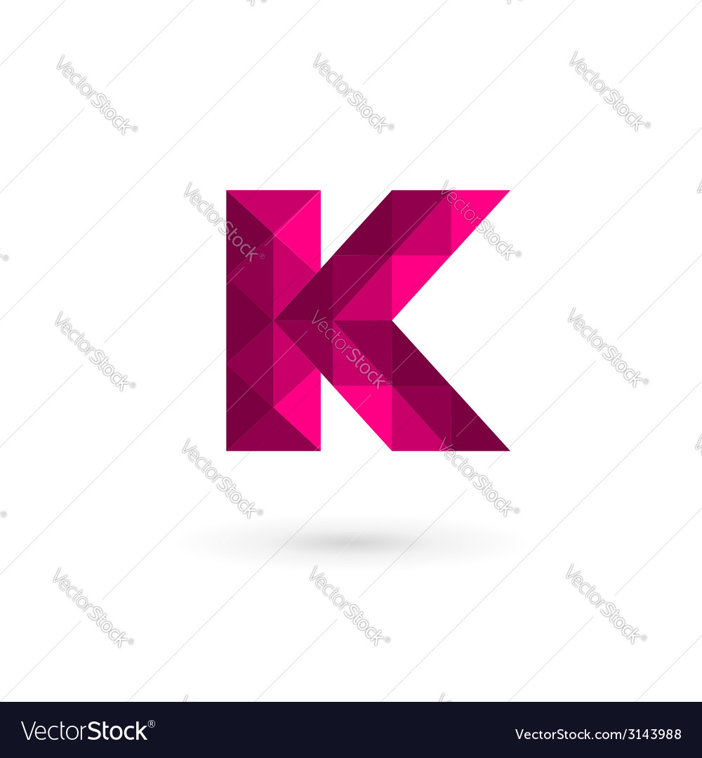 Mosaic letter k logo icon design template elements vector | Price: 1 Credit (USD $1)