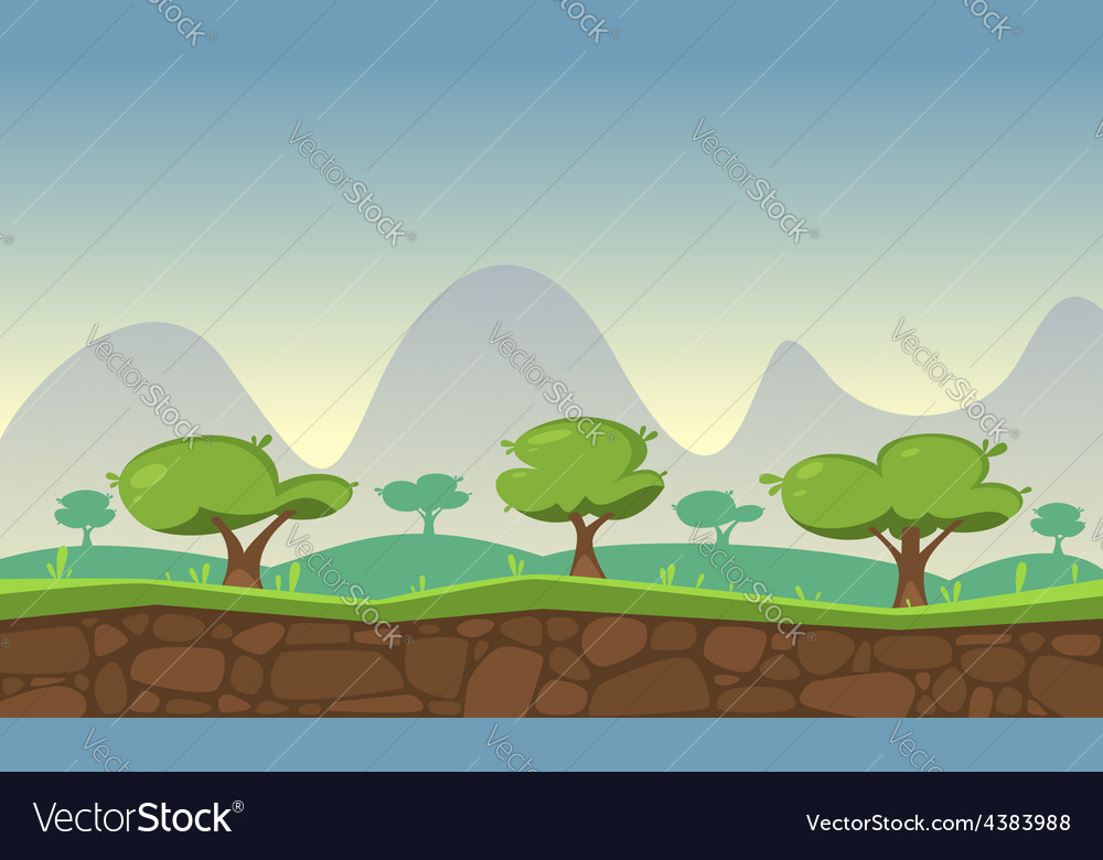 Nature game background vector | Price: 3 Credit (USD $3)