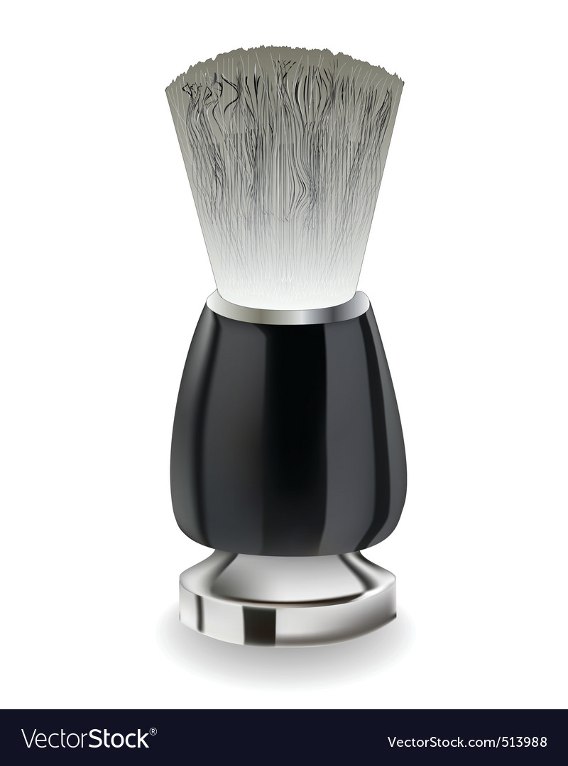 Shaving brush with black handle vector | Price: 1 Credit (USD $1)